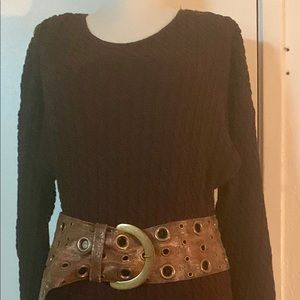 Gorgeous cable knit Joan vass maxi sweater dress